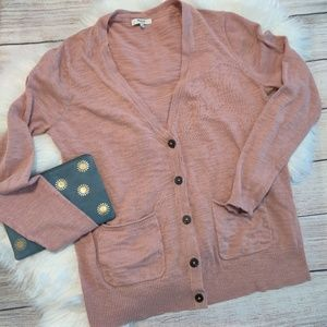 Madewell Pink Cardiagn